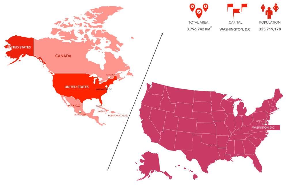 Languages of USA - Map of USA